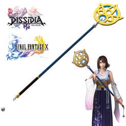 Download 3D printer designs Baculo Yuna de final fantasy X y Dissidia final fnatasy NT, bohemianwolf
