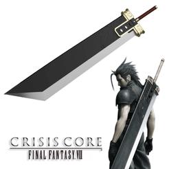 Descargar archivos STL Espada mortal de Zack version final fantasy 7 crisis core, bohemianwolf