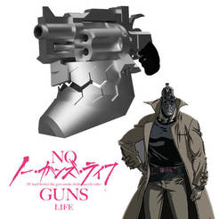 Download 3D printing designs Jûzô Inui helmet from the No Guns Life series, bohemianwolf