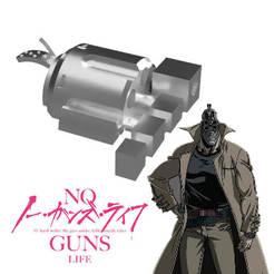 Descargar archivo 3D mano revolver de Jûzô Inui de la serie No Guns Life, bohemianwolf