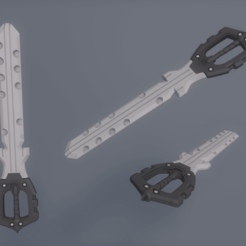 llave_espada_riku_cinema.png Download free STL file kingdom hearts 3 keyblade Riku • 3D print object, ArtViche