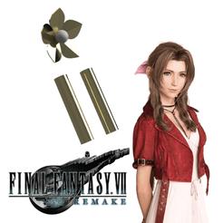 Sin título-1.png Télécharger fichier STL Aerith Final fantasy 7 Pendentif Remake • Design imprimable en 3D, ArtViche