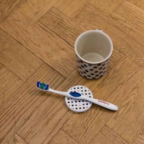 DSC06283.jpg Download free STL file Toothbrush yuck protector • 3D printer object, hallonhatt