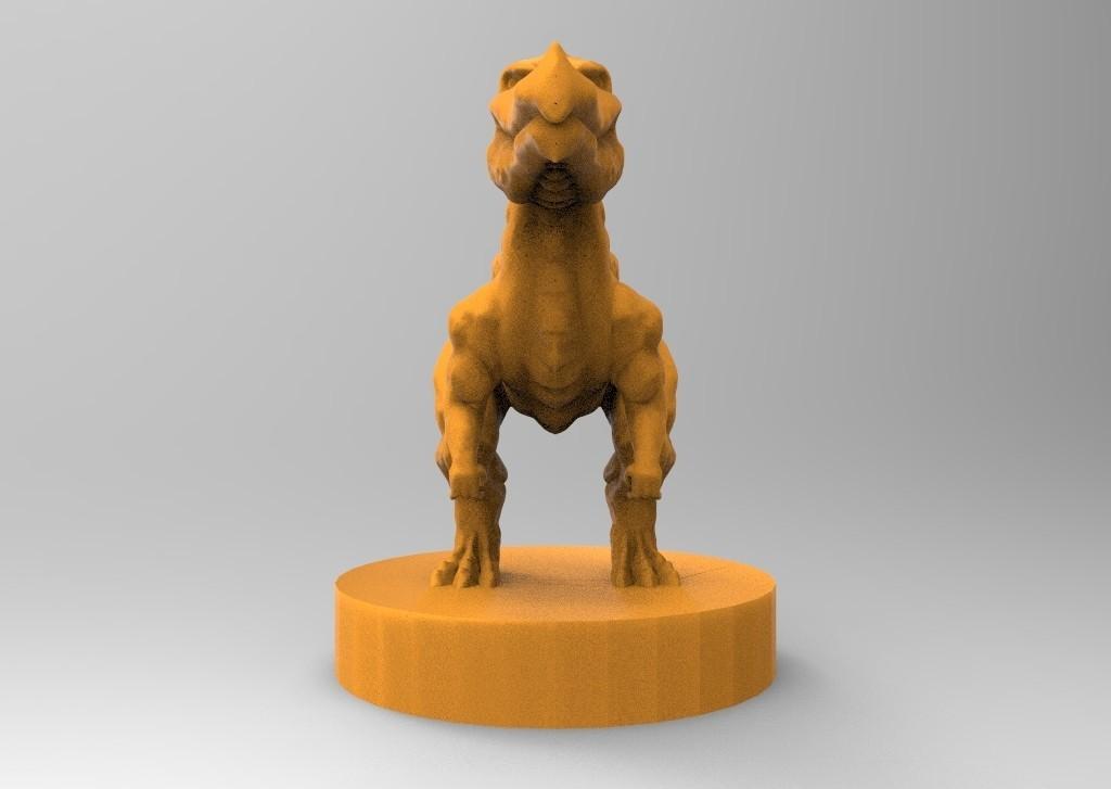 untitled.36.jpg Download STL file The fantasy dinosaur • 3D print model, ga461888