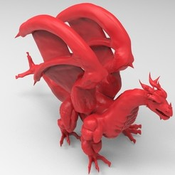 untitled.38.jpg Download STL file Red dragon • 3D print template, ga461888