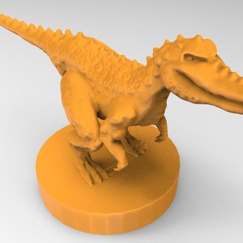 untitled.34.jpg Download STL file The fantasy dinosaur • 3D print model, ga461888