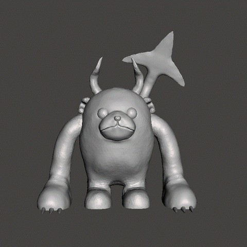bub1.jpg Download STL file bub the bear • 3D printable design, ga461888