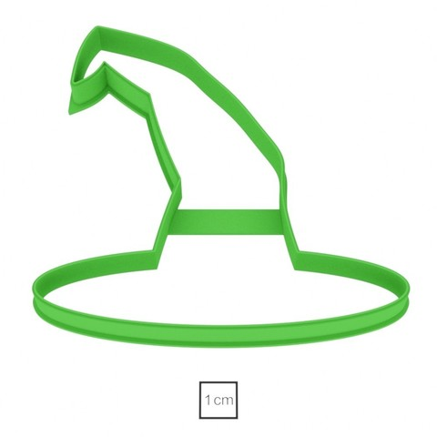02.jpg Download OBJ file Witch Hat cookie cutter for professional • 3D printer model, gleblubin