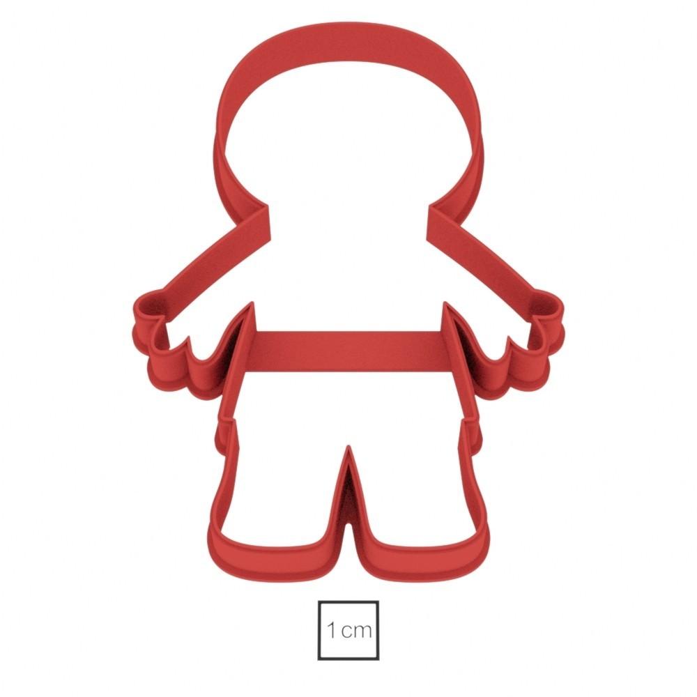 мумия_01.jpg Download OBJ file Mummy cookie cutter for professional • 3D printer design, gleblubin