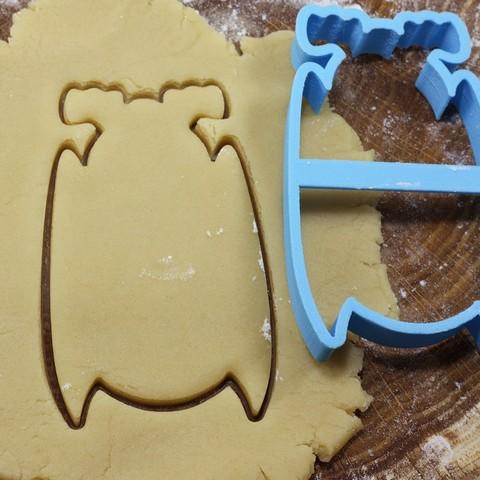 3D print files Bat 2 cookie cutter for professional, gleblubin