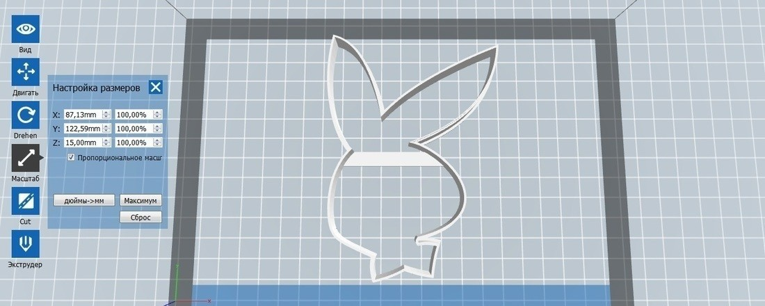 container_bunny-playboy-cookie-cutter-for-professional-3d-printing-142747.jpg Download free STL file Bunny Playboy cookie cutter for professional • 3D print design, gleblubin
