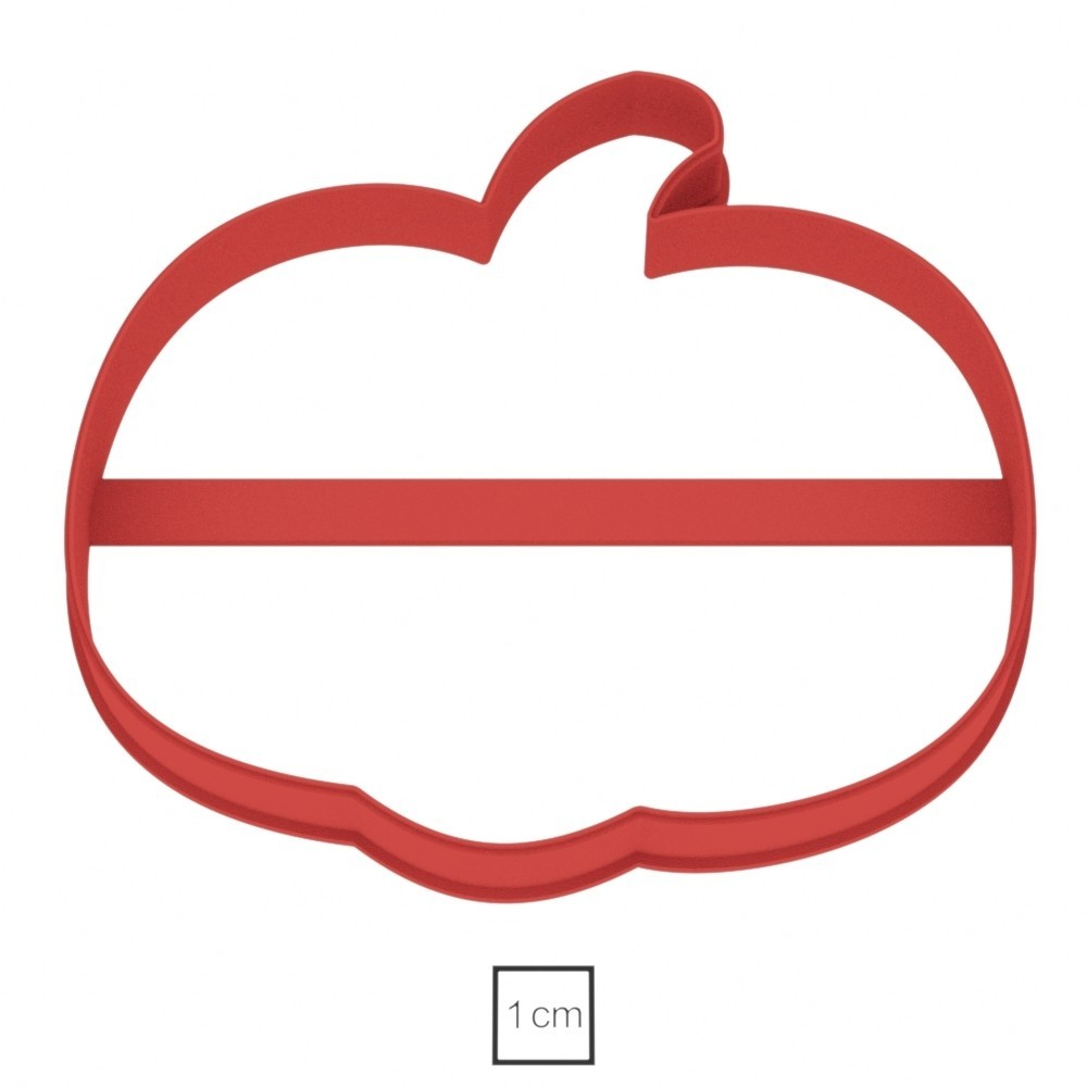 02.jpg Download OBJ file Pumpkin Halloween cookie cutter for professional • 3D printing template, gleblubin