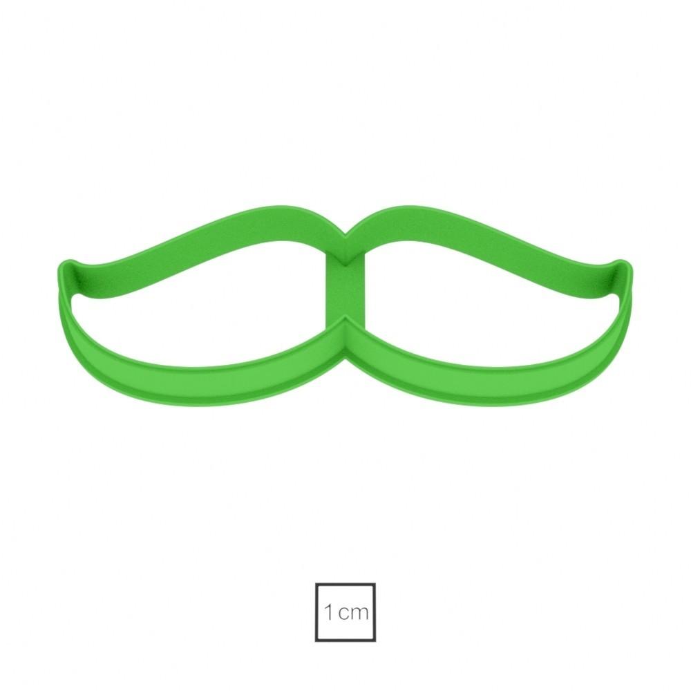 02.jpg Download OBJ file Mustache 2 cookie cutter for professional • 3D printer model, gleblubin