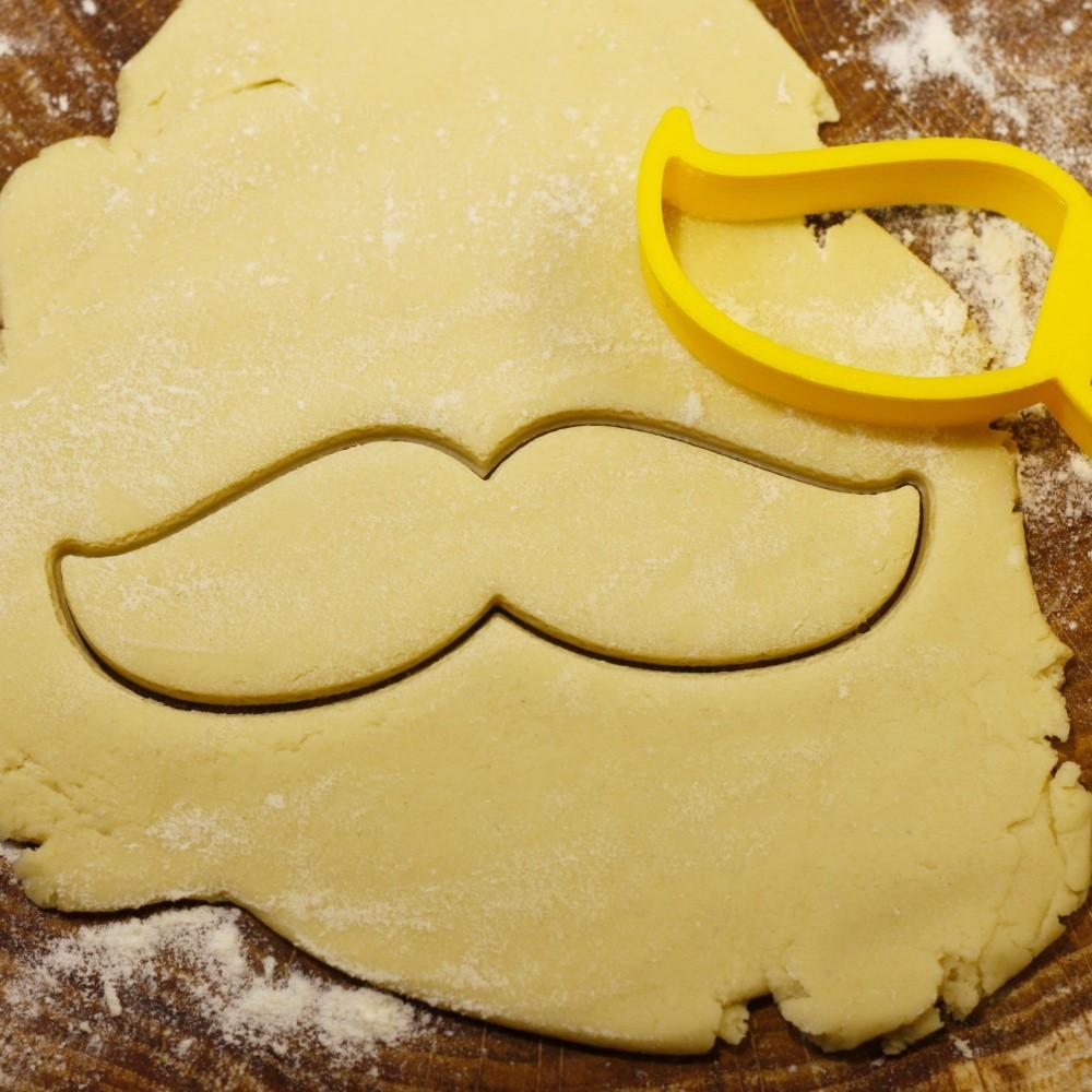 01.jpg Download OBJ file Mustache 2 cookie cutter for professional • 3D printer model, gleblubin