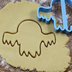 привидение 2.jpg Download OBJ file Ghost 2 cookie cutter for professional • 3D printing template, gleblubin