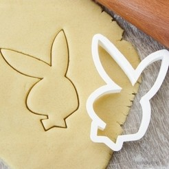 Free stl Bunny Playboy cookie cutter for professional, gleblubin