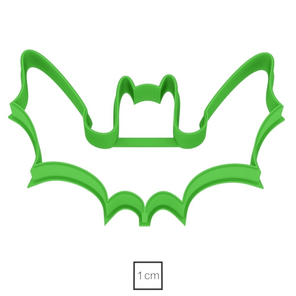 02.jpg Download OBJ file Bat cookie cutter for professional • 3D printing template, gleblubin