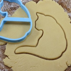 Download 3D printing designs Cat 2 cookie cutter for professional, gleblubin