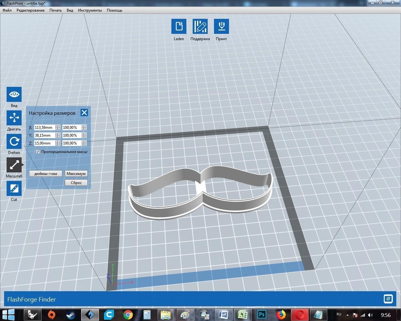 05.jpg Download OBJ file Mustache 2 cookie cutter for professional • 3D printer model, gleblubin