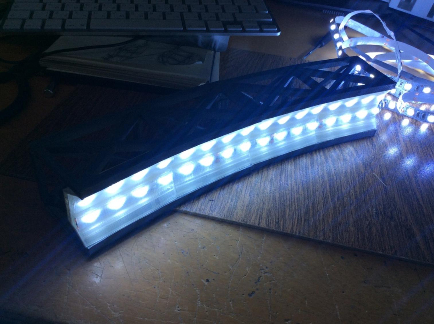 Capture d'écran 2017-10-19 à 16.14.05.png Download free STL file Led bridge lamp Universal Segment • 3D printable design, Opossums