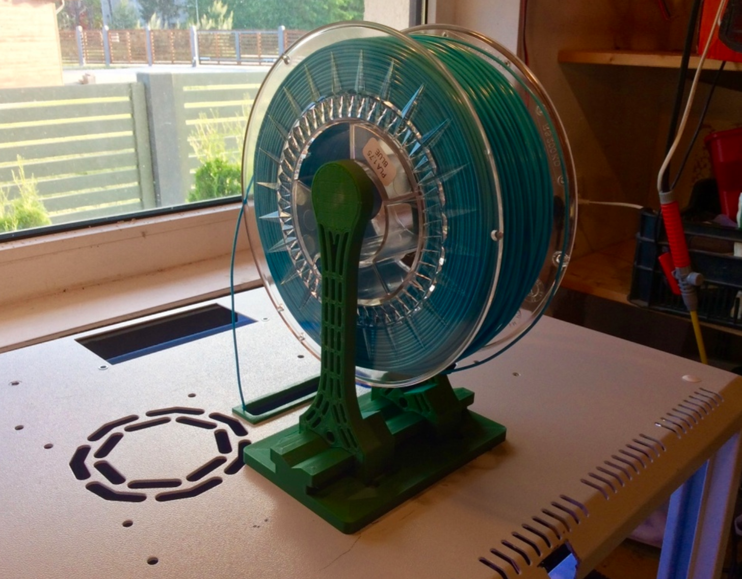 Capture d'écran 2017-10-19 à 15.52.00.png Download free STL file Art Deco style spool holder with bearings • Design to 3D print, Opossums