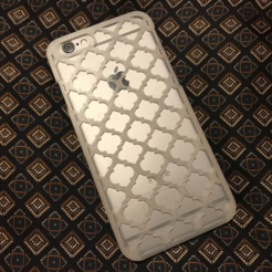 "Free 3D printer file Phone case ""Morocco Zellige"" (iPhone 6 - tested. (check scale! Samsung s7 Edge, Note 4), Opossums"
