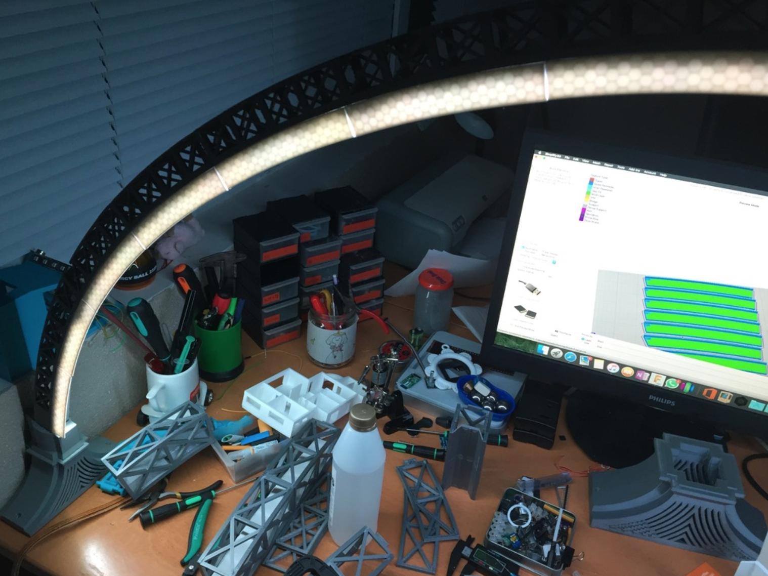 Capture d'écran 2017-10-19 à 15.55.51.png Download free STL file LED bridge lamp • Model to 3D print, Opossums