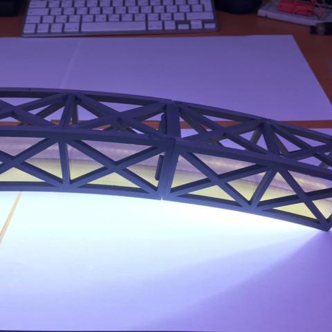Capture d'écran 2017-10-19 à 16.03.27.png Download free STL file Led bridge lamp Universal Segment • 3D printable design, Opossums