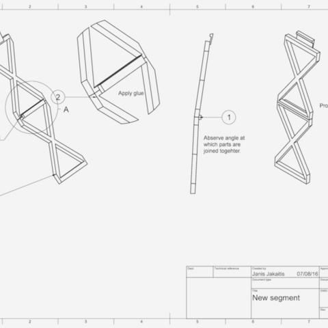 Capture d'écran 2017-10-19 à 16.03.44.png Download free STL file Led bridge lamp Universal Segment • 3D printable design, Opossums