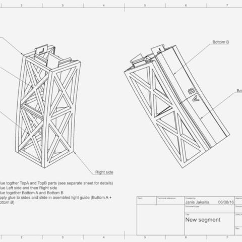 Capture d'écran 2017-10-19 à 16.02.44.png Download free STL file Led bridge lamp Universal Segment • 3D printable design, Opossums