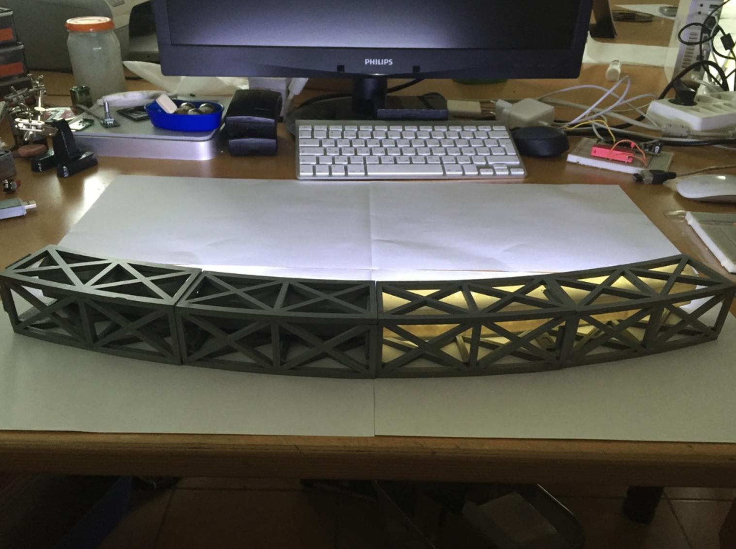Capture d'écran 2017-10-19 à 16.03.19.png Download free STL file Led bridge lamp Universal Segment • 3D printable design, Opossums