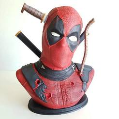 Download 3D printing templates DEADPOOL BUST, FranckyMcFly