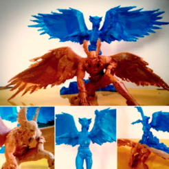 Free 3D printer designs Hawkman and Hawkwoman, CaiquedeAndrade