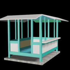 modelos 3d gratis cabina, QKM
