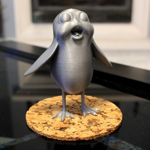 Impresiones 3D gratis Porg levemente enfurecido, ricardo-jfa