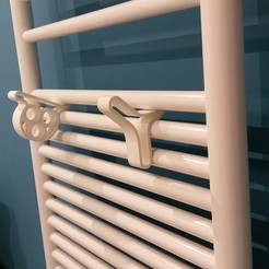 Free STL Brackets for sober dry towels and design, maritime inspiration, rluc