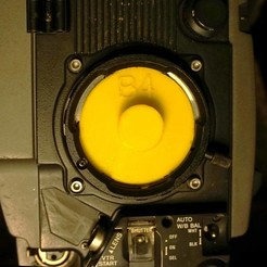 Download 3D printing models Video B4 Lens port cap, vintage-lens