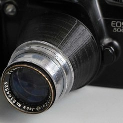Download 3D model Reflex Korelle lens to Canon EF adapter, vintage-lens
