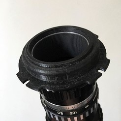 Download 3D printing designs M42 lens to PL adapter, vintage-lens