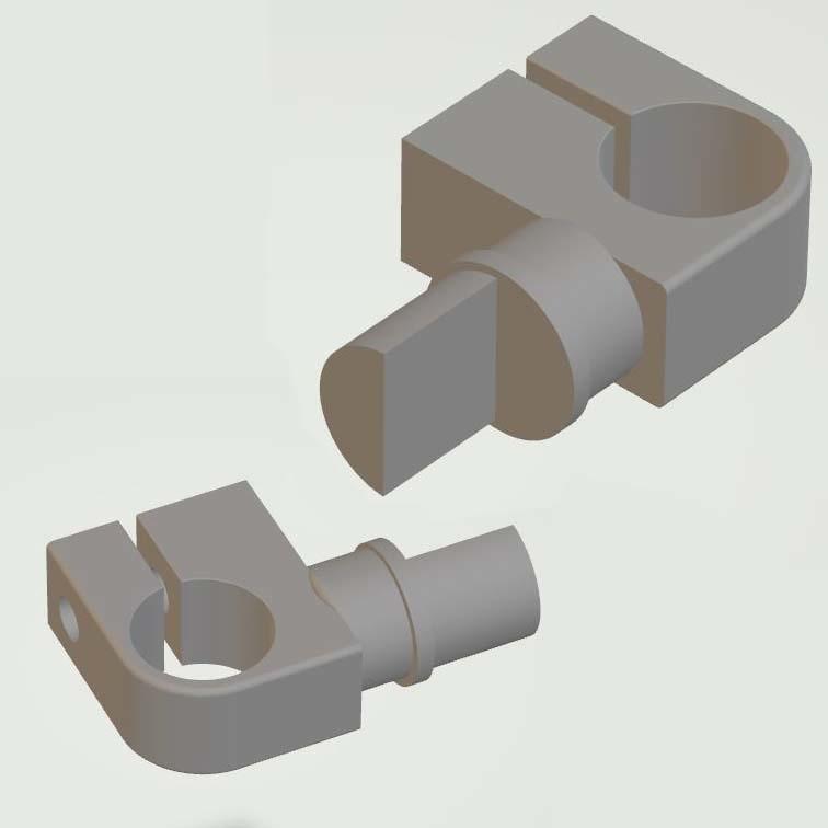 V-mnt-15mmBarsv5-3.JPG Download STL file V-Mount Battery Back Pack Plate to 15mm bars Adapter • Object to 3D print, vintage-lens