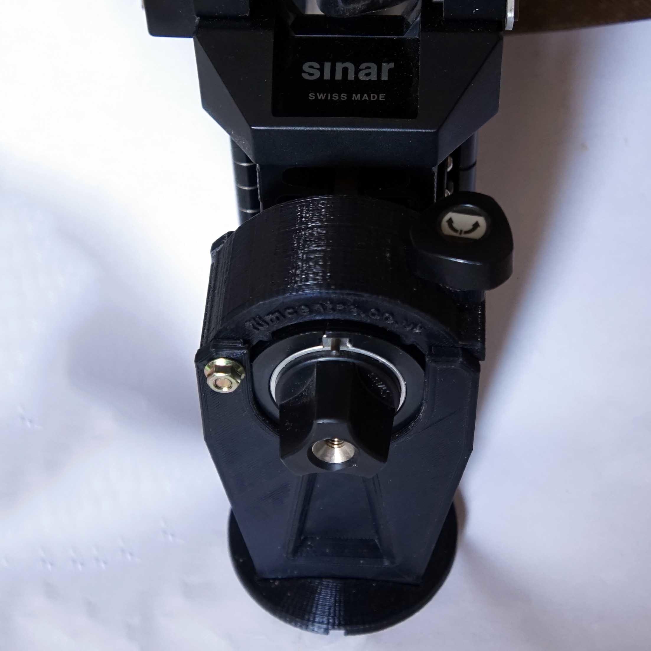 sinar-tripod-mount-pillar0.JPG Download STL file Sinar rail clamp (camera/tripod support) & F1 repairs • 3D printing object, vintage-lens