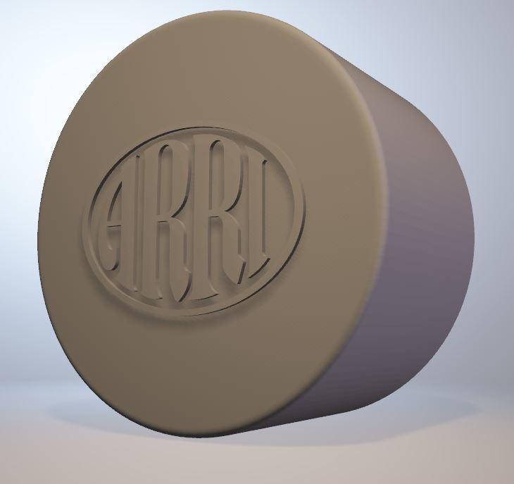 Assi-S-cap-w-logo.jpg Download STL file Arri-S & Arri-B rear lens cap • 3D printer model, vintage-lens