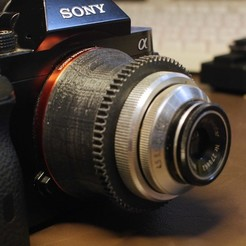 3D print model enlarger lens to Sony E-mount helicoid adapter, vintage-lens