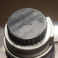 Modelos 3D Tapa trasera lente M39 (Leica), vintage-lens