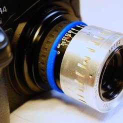 "Download 3D printing designs Argus C44 ""The Brick"" lens adapter to Leica L39, vintage-lens"