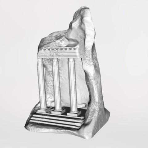 Free 3d printer designs Historic Stone Structure, 3DGuyDubai