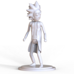 diseños 3d gratis Rick Sanchez, 3DGuyDubai