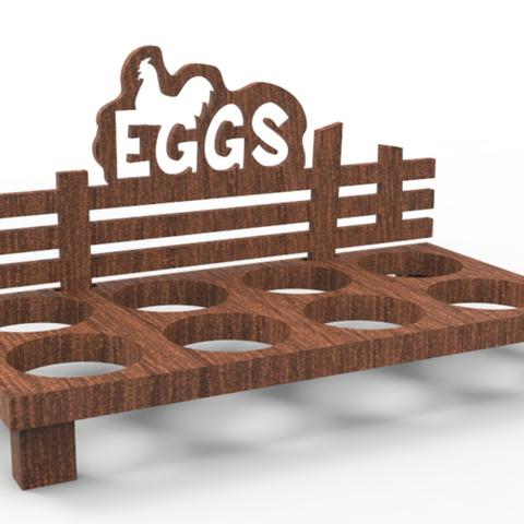 Free 3d printer designs Wooden Egg Tray, 3DGuyDubai