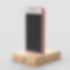 Free stl file iPhone Stand, 3DGuyDubai