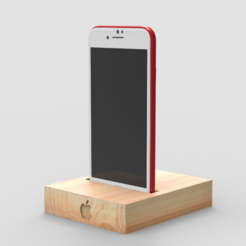 archivos stl Soporte de iPhone gratis, 3DGuyDubai